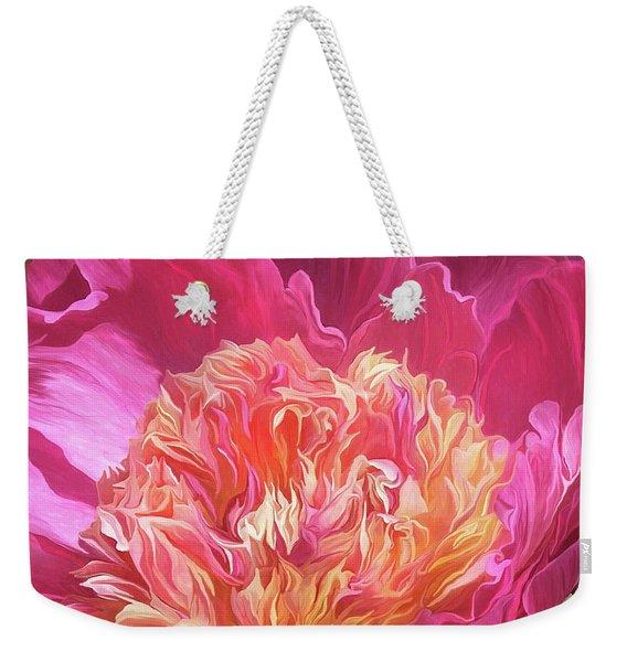 Peony - Flower Of Desire Weekender Tote Bag