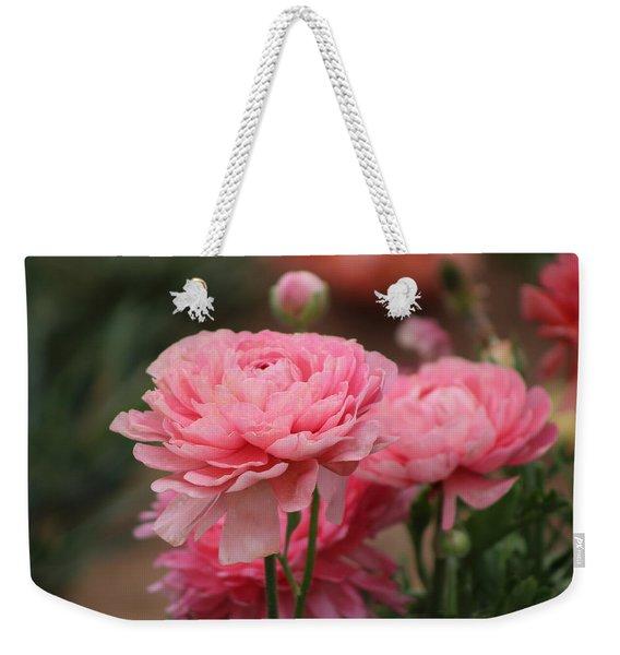 Peony Pink Ranunculus Closeup Weekender Tote Bag