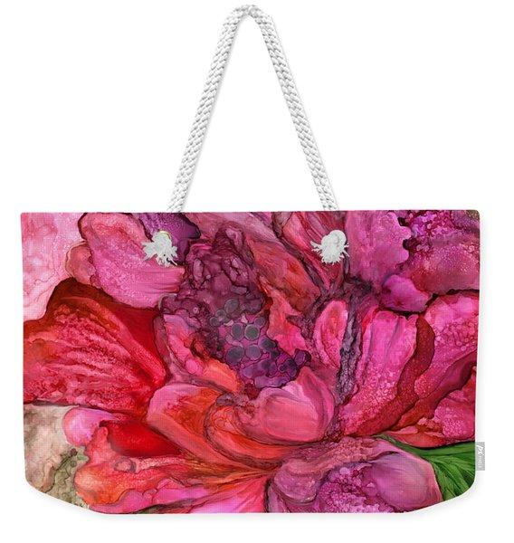 Peony Red - Organica Weekender Tote Bag