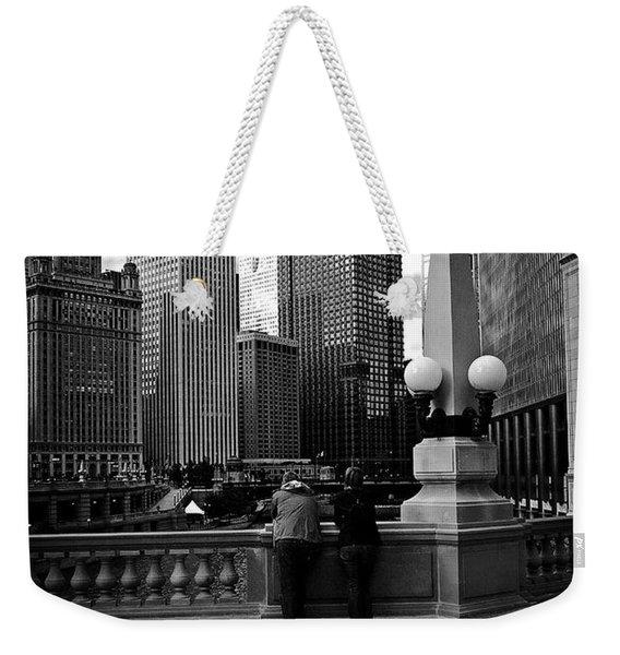 People And Skyscrapers Weekender Tote Bag