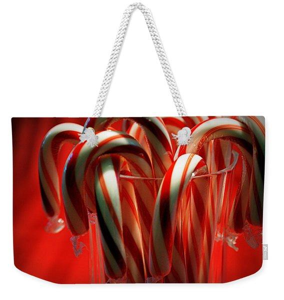 Peppermint Jumble Weekender Tote Bag