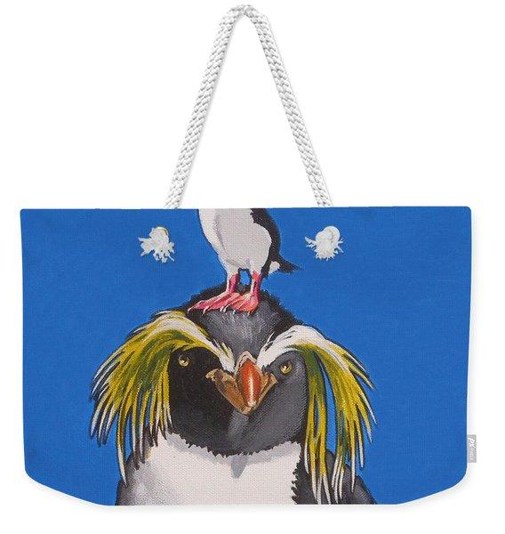 Percy The Penguin Weekender Tote Bag