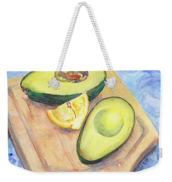 Perfect Avocado Weekender Tote Bag
