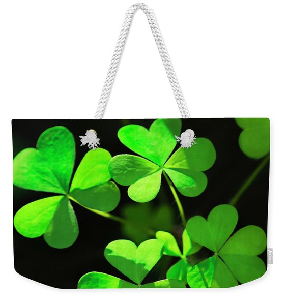 Perfect Green Shamrock Clovers Weekender Tote Bag