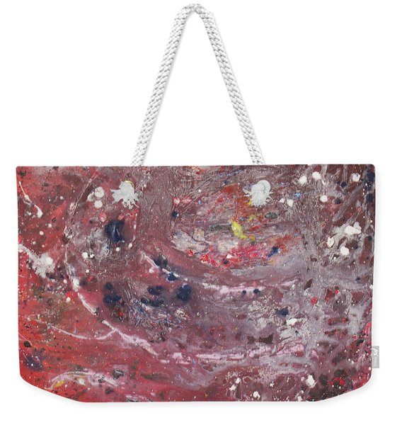 Weekender Tote Bag featuring the painting Perfect Storm by Michael Lucarelli