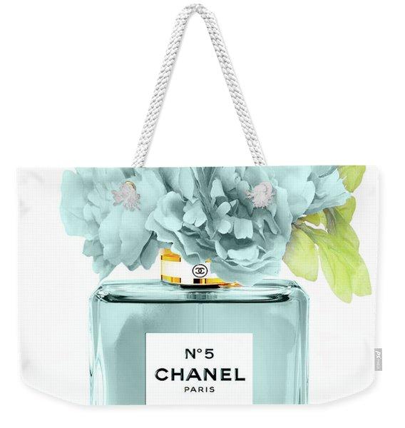 Perfume N.5 With Peony Weekender Tote Bag