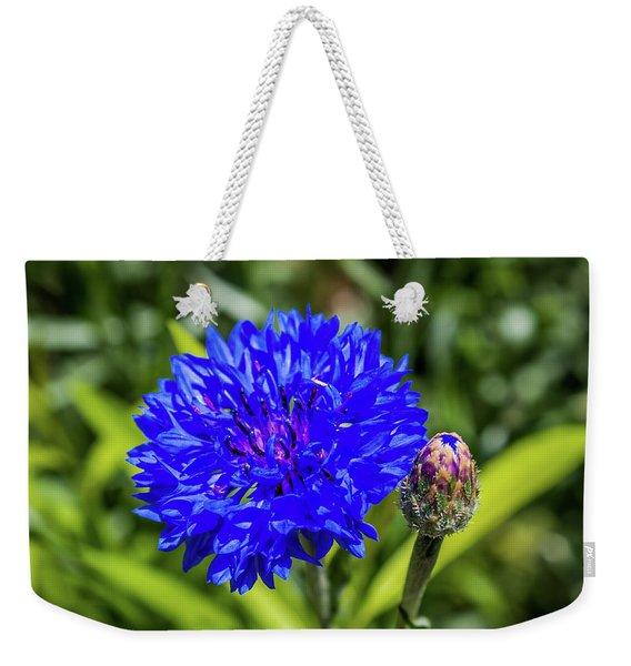 Perky Cornflower Weekender Tote Bag