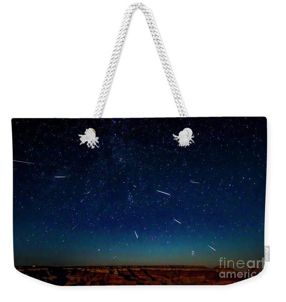Perseid Meteor Shower Weekender Tote Bag