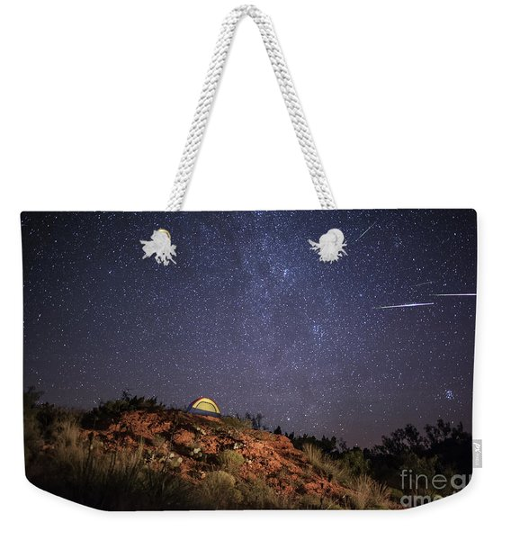 Perseids Over Caprock Canyons Weekender Tote Bag