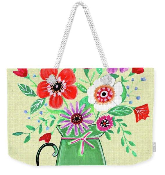 Persimmon And Sage Florals Weekender Tote Bag
