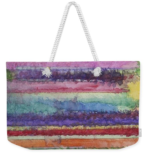 Weekender Tote Bag featuring the painting Perspective by Jacqueline Athmann