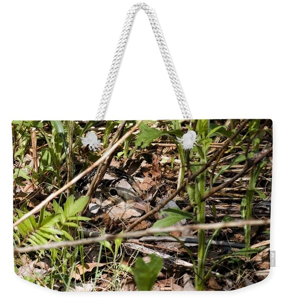 Perspective Of A Camouflage Weekender Tote Bag