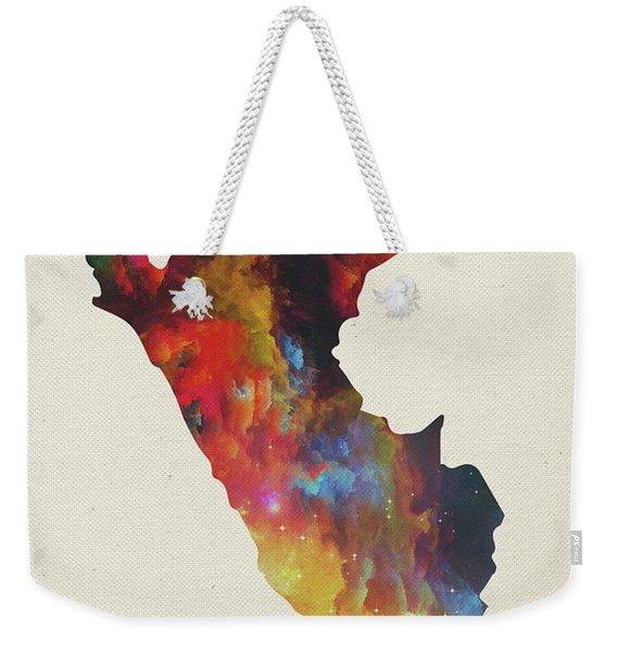 Peru Watercolor Map Weekender Tote Bag