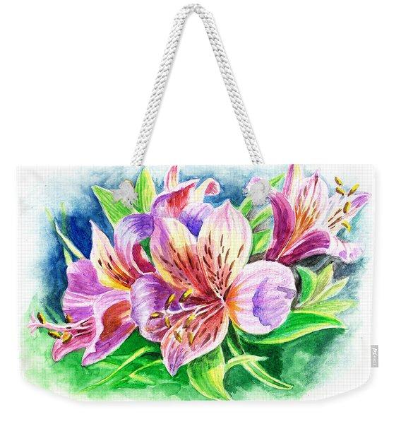 Peruvian Princess Lily Weekender Tote Bag