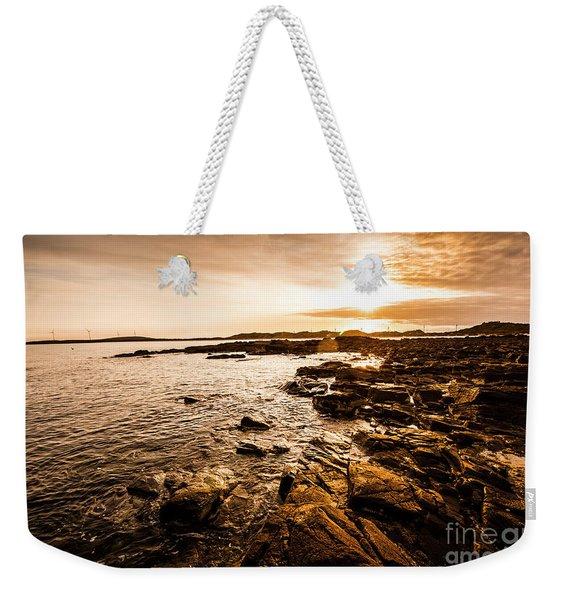 Petal Point Ocean Sunrise Weekender Tote Bag