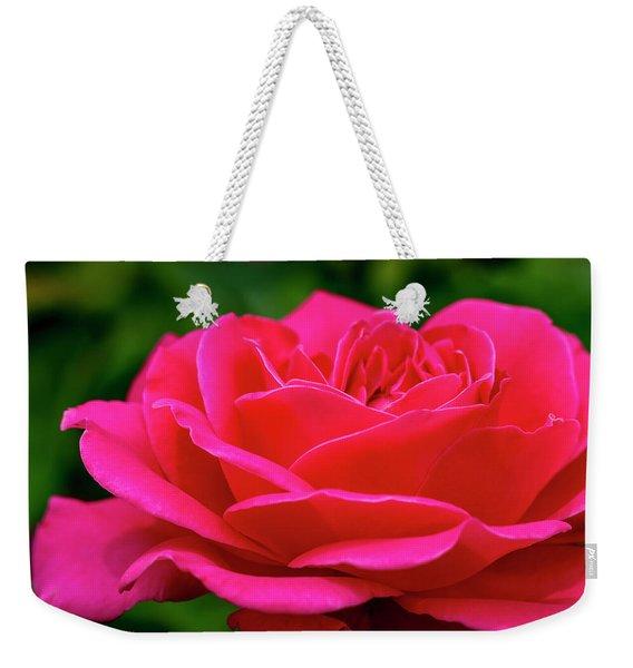 Petals Of A Bright Pink Rose Weekender Tote Bag