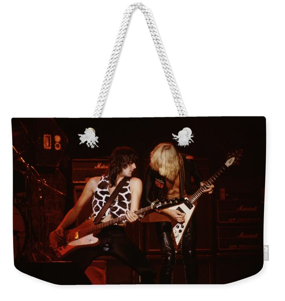 Pete Way And Michael Schenker Weekender Tote Bag
