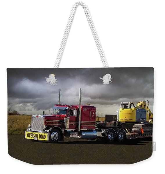 Peterbilt Semi Truck With Oversize Load Weekender Tote Bag