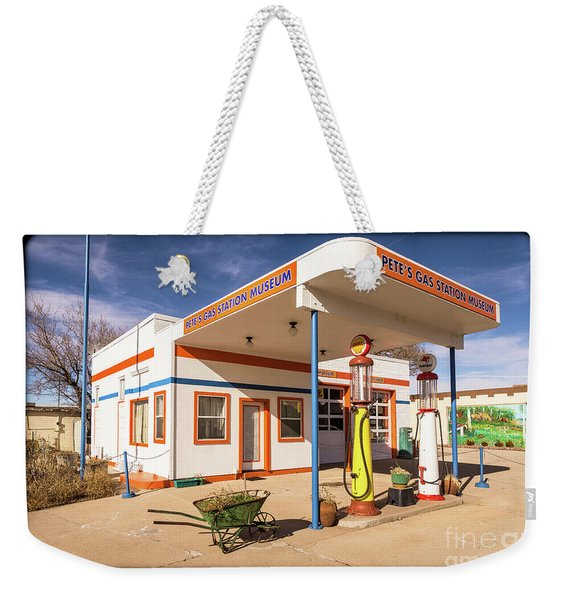 Pete's Gas Station Weekender Tote Bag