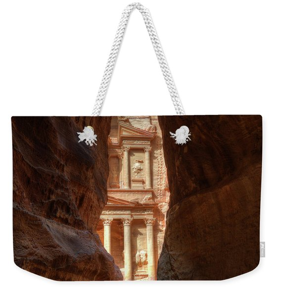 Petra Treasury Revealed Weekender Tote Bag