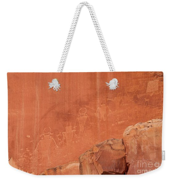 Petroglyphs In Capital Reef Weekender Tote Bag