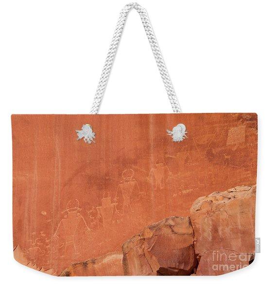 Petroglyphs In Capital Reef Weekender Tote Bag