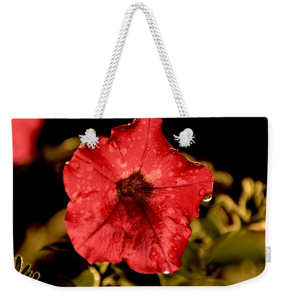 Petunia After Rain Weekender Tote Bag