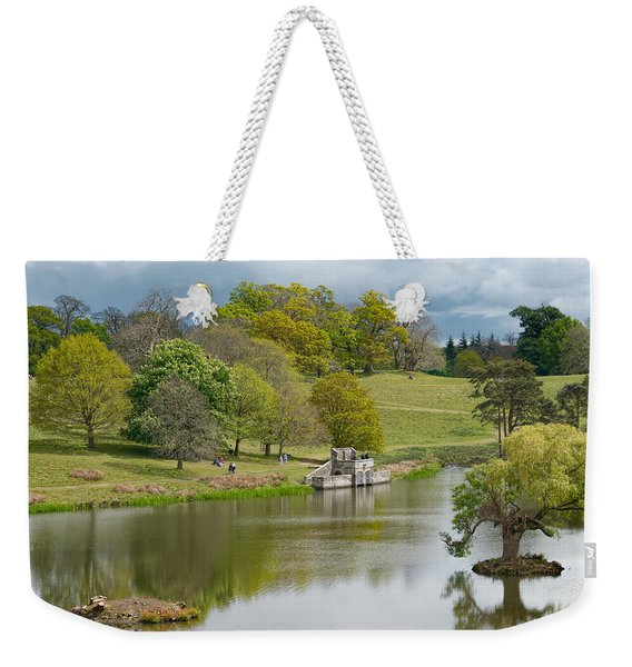 Weekender Tote Bag featuring the photograph Petworth Lake In April by Michael Hope