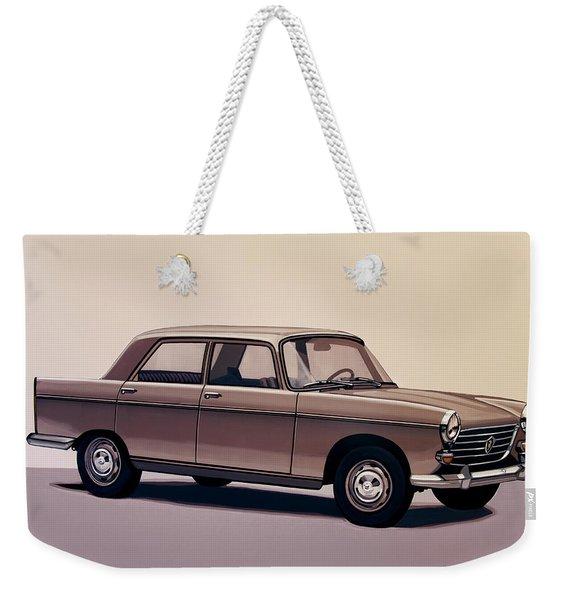 Peugeot 404 1960 Painting Weekender Tote Bag