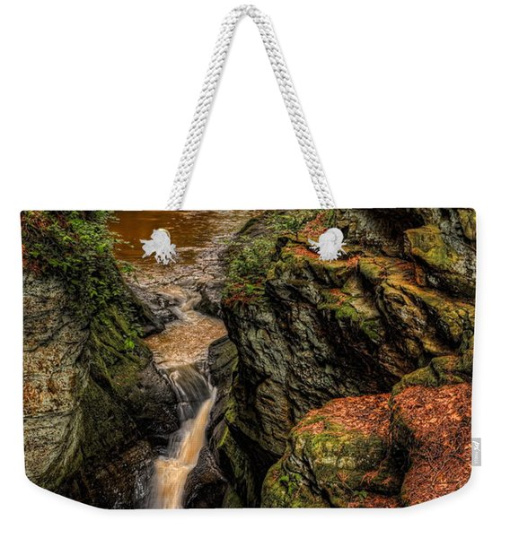 Pewits Nest Three Waterfalls Weekender Tote Bag