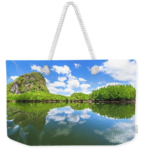 Weekender Tote Bag featuring the photograph Phang Nga Bay by Benny Marty