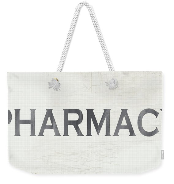 Pharmacy Sign- Art By Linda Woods Weekender Tote Bag