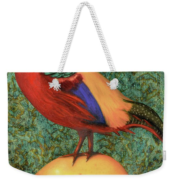 Pheasant On A Lemon Weekender Tote Bag