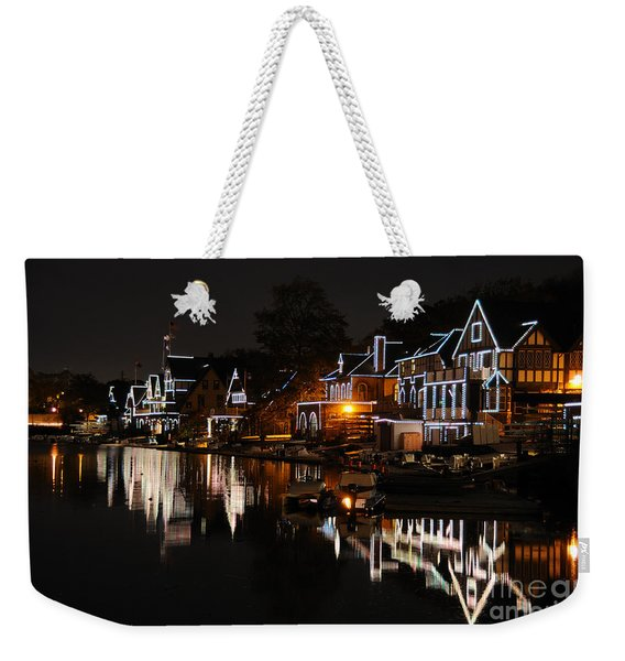 Philadelphia Boathouse Row At Night Weekender Tote Bag