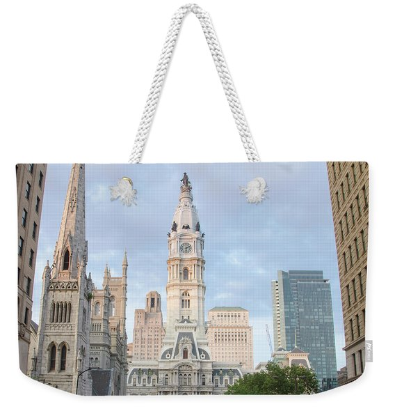Philadelphia - Broad Street View Of City Hall Weekender Tote Bag