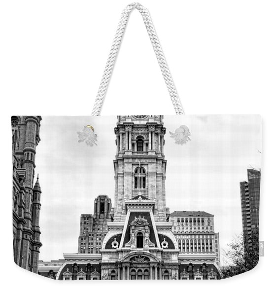 Philadelphia City Hall Building On Broad Street Weekender Tote Bag
