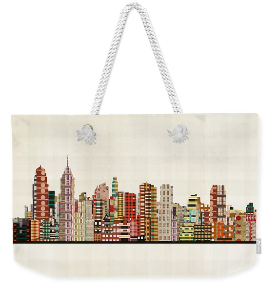 Philadelphia City Skyline Weekender Tote Bag