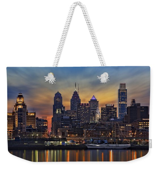 Philadelphia Skyline Weekender Tote Bag