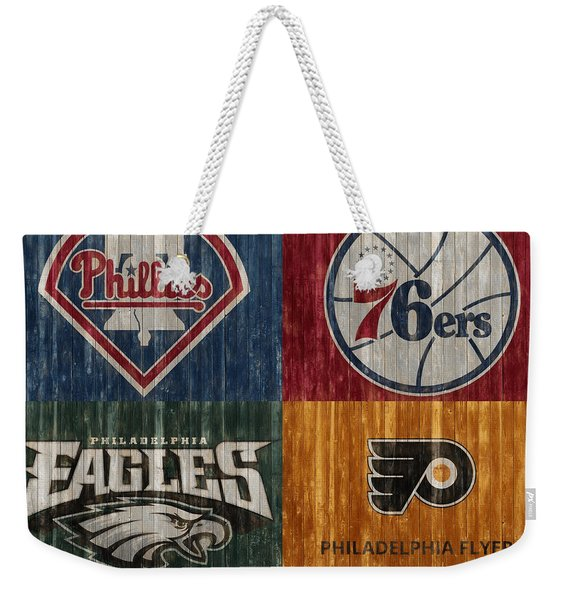 Philadelphia Sports Teams Weekender Tote Bag