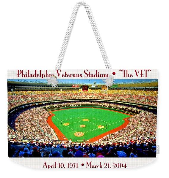 Philadelphia Veterans Stadium The Vet Weekender Tote Bag