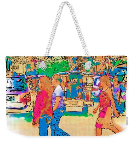 Philippine Girls Crossing Street Weekender Tote Bag