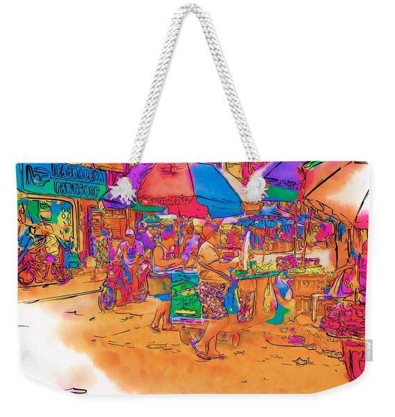 Philippine Open Air Market Weekender Tote Bag