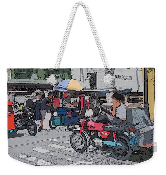 Philippines 673 Street Food Weekender Tote Bag