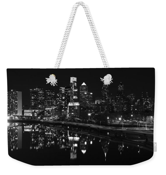 Philly And The Schuylkill Bw Weekender Tote Bag