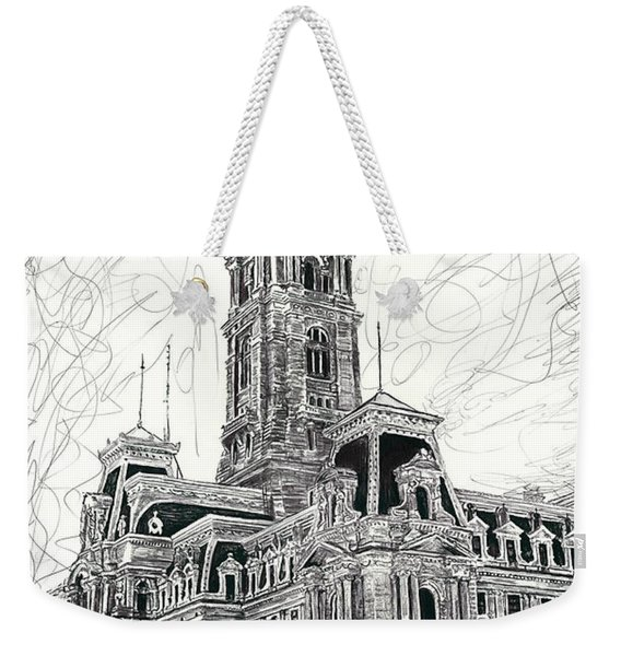 Philly City Hall Weekender Tote Bag