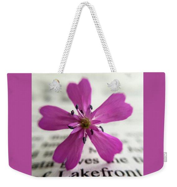 Phlox Print Weekender Tote Bag
