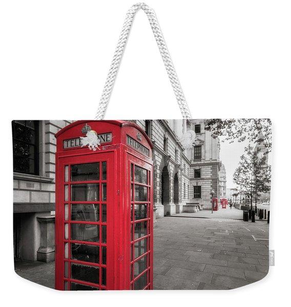Phone Booths In London Weekender Tote Bag