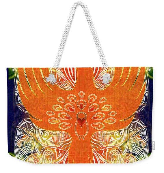 Phonix Rising Abstract Healing Art By Omashte Weekender Tote Bag