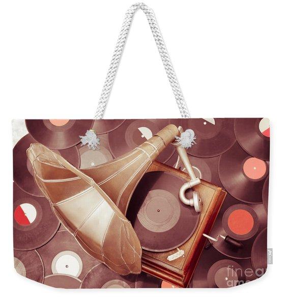 Phonograph Music Player Weekender Tote Bag