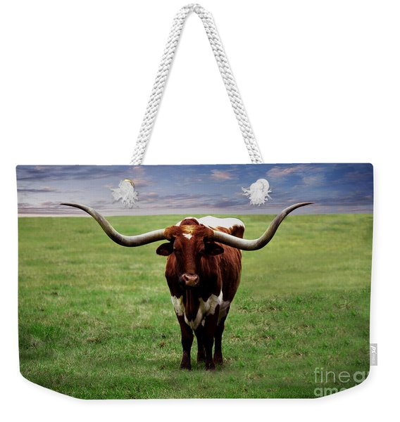 Photo Texas Longhorn A010816 Weekender Tote Bag
